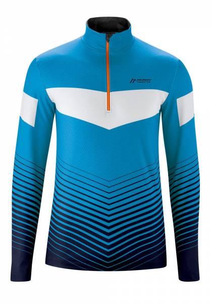 Maier Sports Midlayer Herren Funktionsrolli blue/white/print NEU - Bild 1