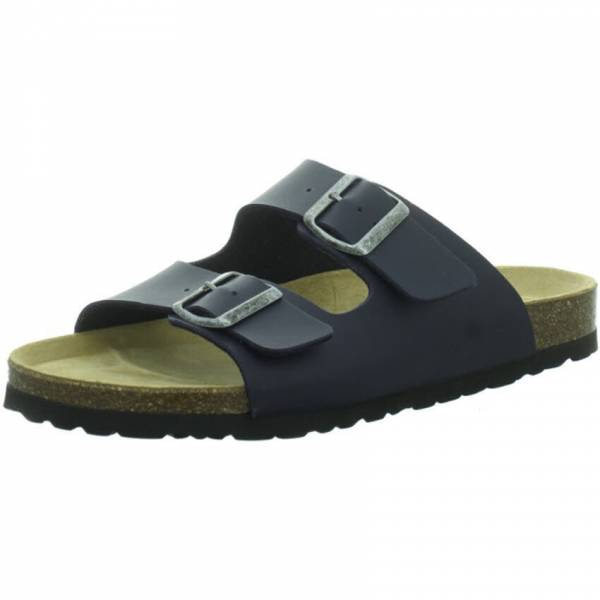 Longo Tieffußbett Sandale Herren Hausschuhe Pantolette Freizeit ocean blau NEU