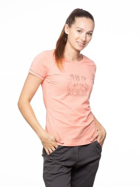 Chillaz Gandia Alpaca Gang T-Shirt Freizeit sportlich modisch Damen rosa NEU - Bild 1