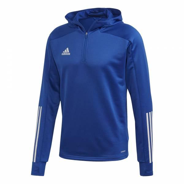 adidas Condivo 20 Track Hood Herren Funktionsshirt Kapuze Freizeit blau NEU - Bild 1