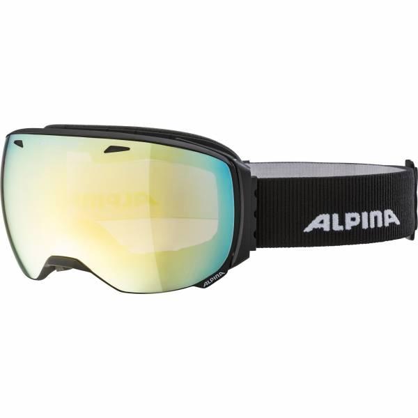Alpina Big Horn QVM Unisex Skibrille Snowboardbrille Wintersport schwarz NEU - Bild 1