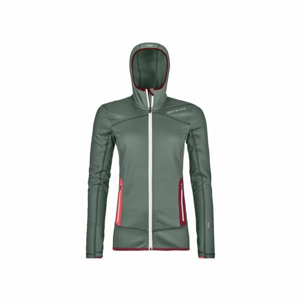 ORTOVOX Fleece Hoody Damen Funktionsjacke Kapuze Midlayer Outdoor Freizeit grün NEU - Bild 1