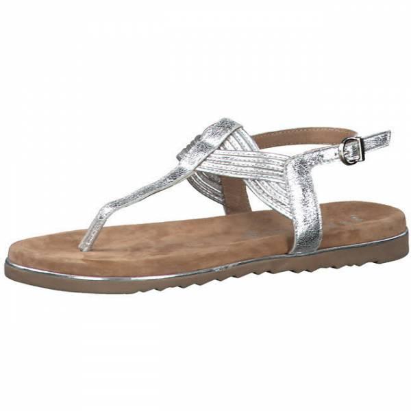 Marco Tozzi Flip Flop Damen Sandalette Sommerschuhe modisch silber NEU