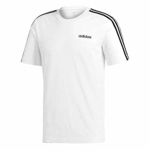 adidas Essentials 3 Streifen T-Shirt Herren Funktionsshirt Fitness Freizeit weiß NEU - Bild 1