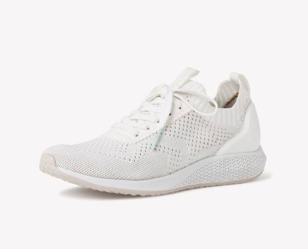 Tamaris Sneaker Low Damen Freizeitschuhe Schnürer Trainingsschuhe white NEU