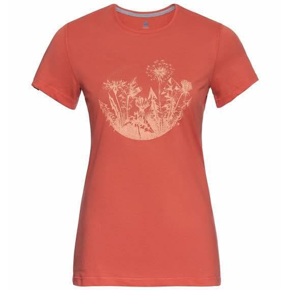 Odlo Kumano Print T-Shirt Funktionsshirt Outdoor Wandern Damen rot NEU - Bild 1