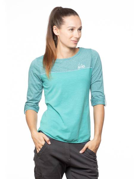 Chillaz Balanced T-Shirt Outdoor Freizeit sportlich modisch Damen blau NEU - Bild 1