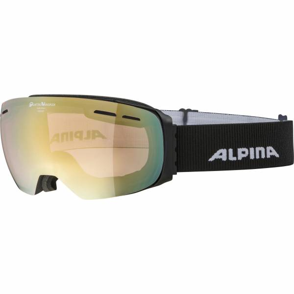 Alpina Granby QVM lightgold sph. Unisex Skibrille Wintersportbrille black NEU - Bild 1