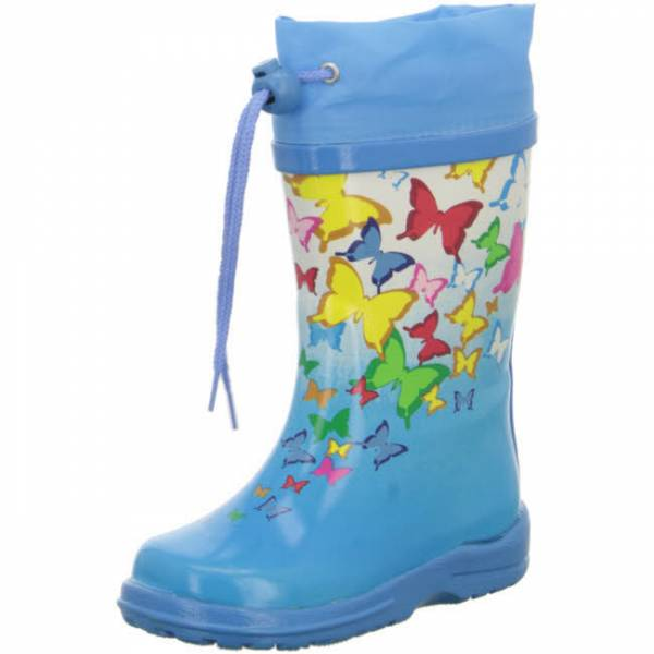 BACK MÄ Butterflies Gummistiefel Mädchen Regenstiefel waterproof Blau NEU - Bild 1