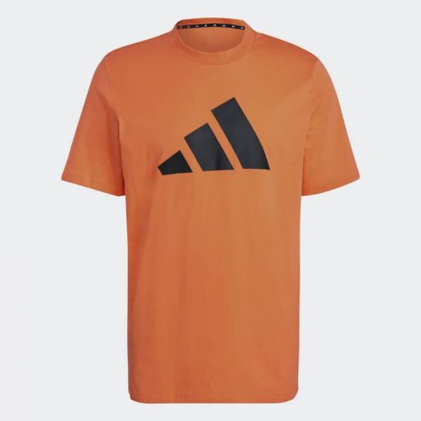 Adidas Sportswear Logo T-shirt sportlich Outdoor Herren orange NEU - Bild 1