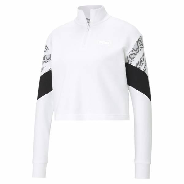 Puma Rebel Half-Zip Pullover Freizeit Sport Fitness Training Damen weiß NEU - Bild 1