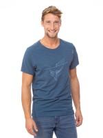 Chillaz Sloth T-Shirt Freizeit Outdoor sportlich modisch Herren blau NEU