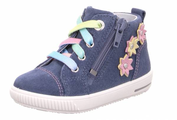 Superfit Moppy Kinder Freizeitschuhe Outdoor Halbschuhe Sneaker blau/rosa NEU