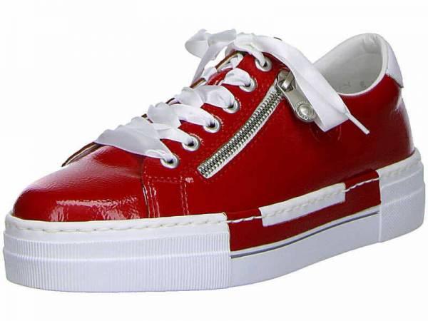 Rieker Halbschuhe Damen Freizeitschuhe Schnürschuhe Sneaker modisch rot NEU