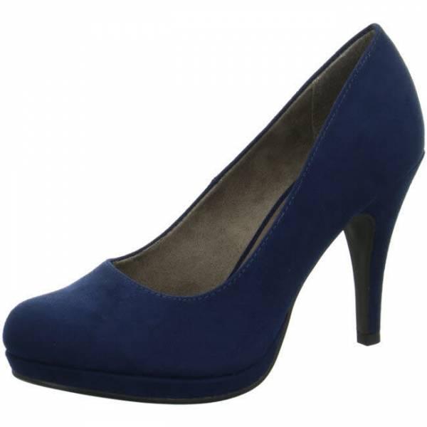 Tamaris Pumps Damen Damenschuhe Plateau Pumps blau NEU