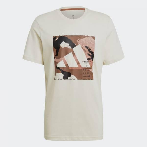 Adidas Graphic T-shirt sportlich Outdoor Herren weiß NEU - Bild 1