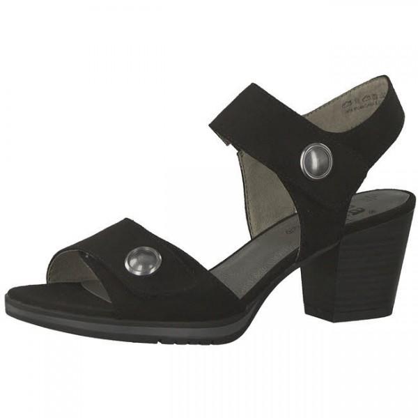 Jana Sandale Damen Sandalette mit hohem Absatz elegant modisch schwarz NEU