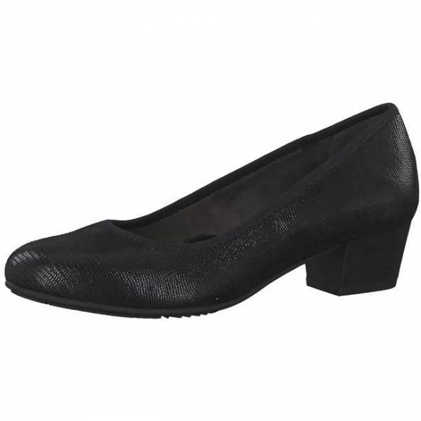 Jana Pumps Damen Stöckelschuhe offene Schuhe modisch elegant schwarz NEU