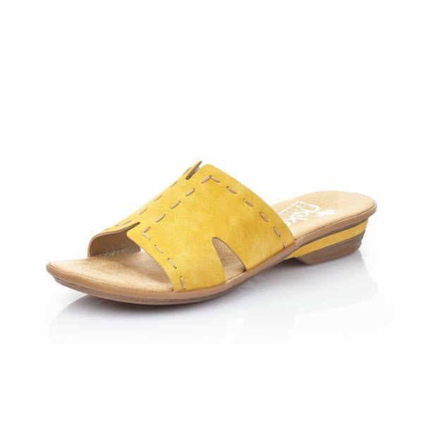 Rieker Pantolette Damen Sandalette Sommer Freizeit gelb NEU - Bild 1