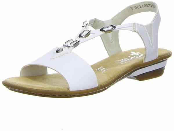 Rieker Sandalette Damen Sandale Pantolette Sommerschuhe modisch weiß NEU - Bild 1
