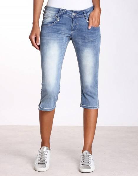 GANG Nena 3/4 Damen Denim Short Sommerhose Jeanshose modisch Freizeit blau NEU - Bild 1