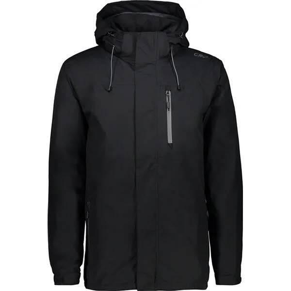 CMP Men Rain Jacket Zip Hood Herren Outdoorjacke Wanderjacke antracite NEU