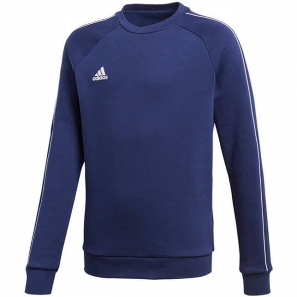 Adidas JU Core18 SW Top Y Jungen Trainings Pullover Sweatshirt blau NEU
