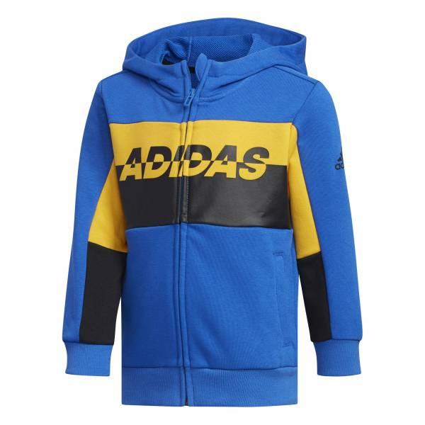 adidas Football Trainingsjacke Jungen Sportjacke Kapuze Funktion blau NEU - Bild 1