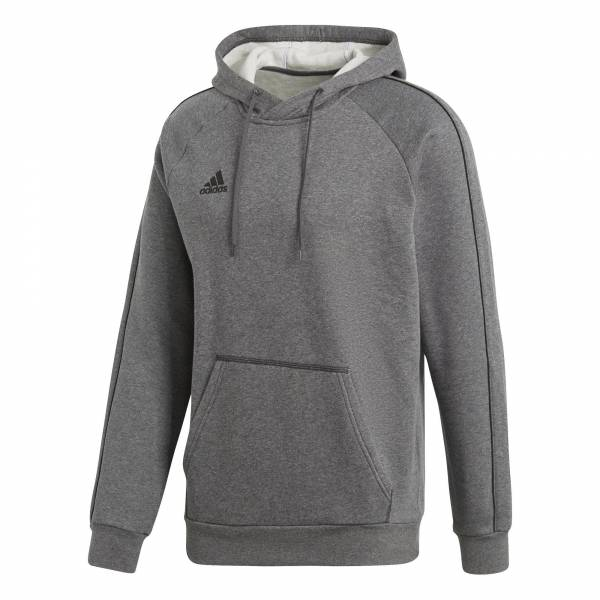 adidas Core 18 Hoodie Herren Fußballhoodie Freizeitpulli Training dark grey NEU - Bild 1
