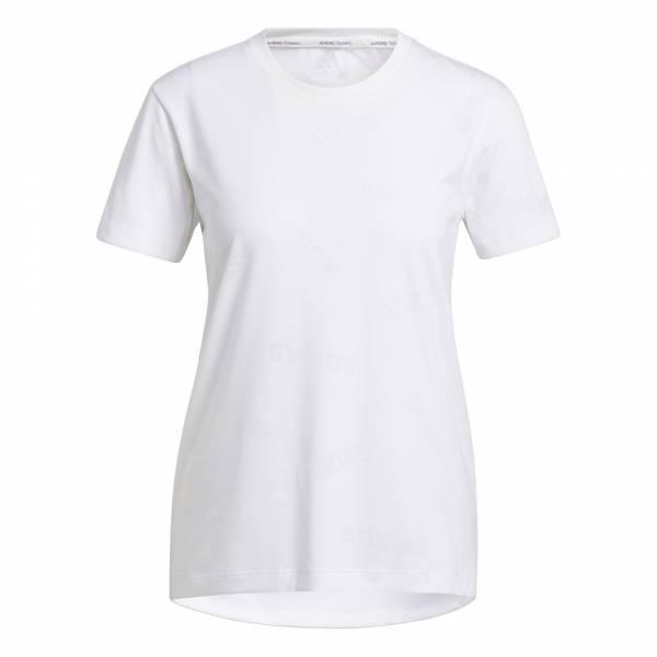 adidas Training Aeroknit T-Shirt Sport Fitness Freizeit Damen weiß NEU - Bild 1