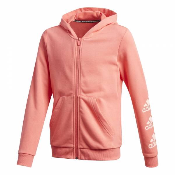 adidas Must Haves BOS Full Zip Hoodie Mädchen Traingsjacke Sportjacke Fitness orange NEU - Bild 1