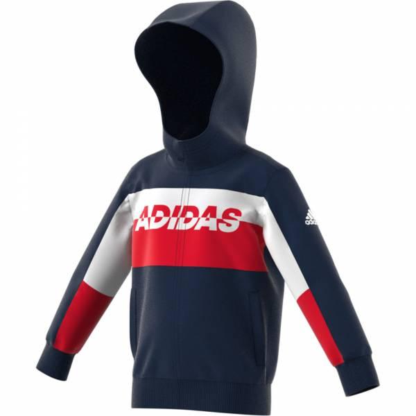 adidas LB FT KN Jacket Jungen Sportjacke Freizeit blau rot weiß NEU - Bild 1