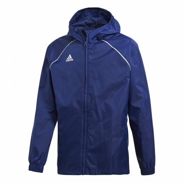 adidas Core 18 Regenjacke Kinder Trainingsjacke Fussball blue/white NEU - Bild 1