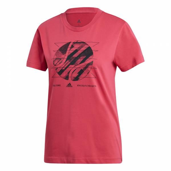 adidas W SS US Open1 Damen Funktionsshirt T-Shirt Fitness Freizeit pink NEU - Bild 1