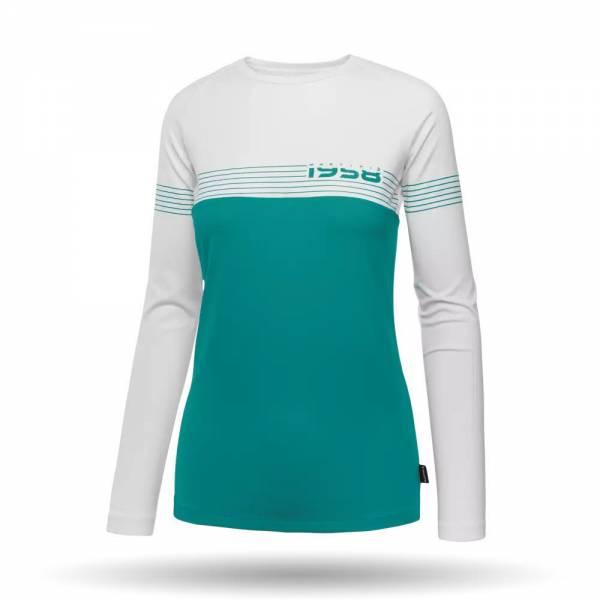 Martini Crystal Langarmshirt Outdoor Freizeit Sport Damen türkis NEU