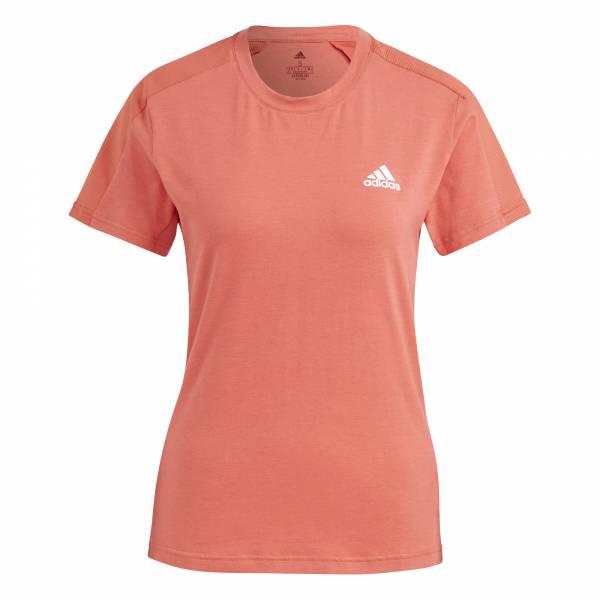 adidas Designed to Move T-Shirt Freizeit Sport Fitness Damen rot NEU - Bild 1