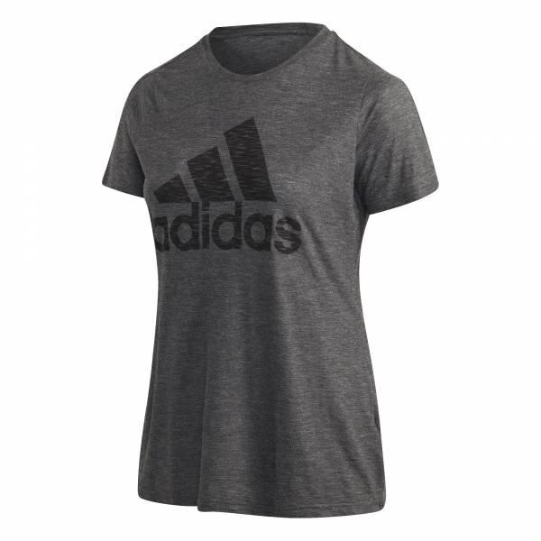 adidas Winner T-Shirt große Größen Damen Funktion Fitness Freizeit grau NEU - Bild 1