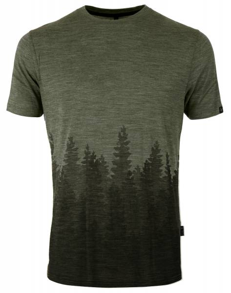 Pally Hi T-Shirt Oranic Skyline Herren Funktionsshirt Outdoor Freizeit grün NEU