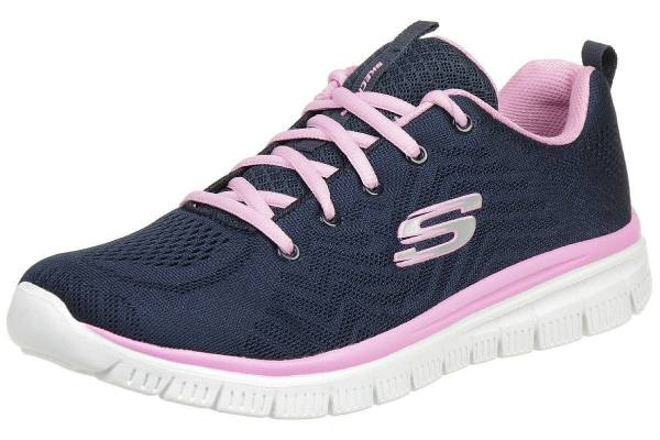 Skechers Graceful Get Connected Damen Freizeitschuhe Sneaker Schnürer blau NEU