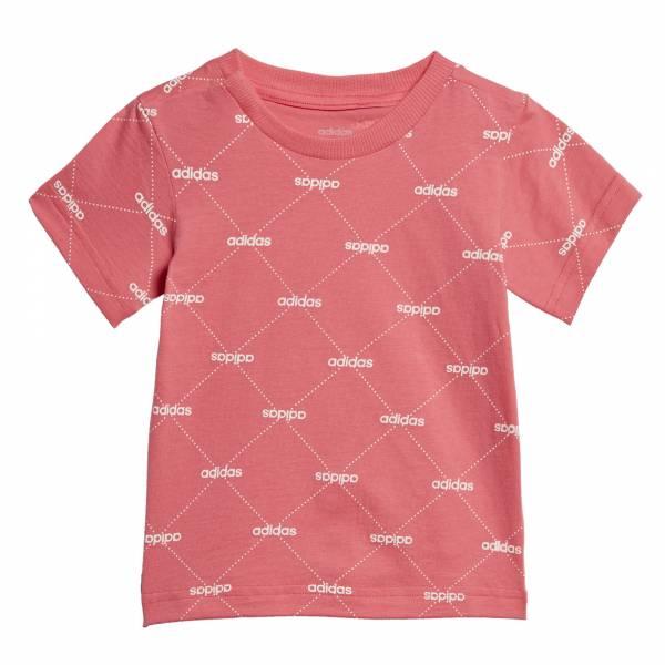 adidas Linear Graphic Tee Mädchen Sportshirt T-Shirt Funktion Freizeit pink NEU - Bild 1