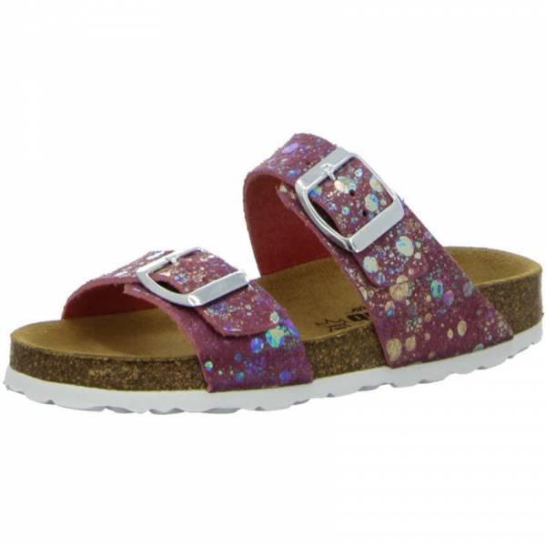 Longo Kinder Mädchen Pantolette Hausschuhe Sandale Zweiriemer multicolor NEU - Bild 1