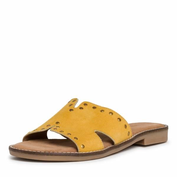 Marco Tozzi Pantolette Damen Sommerschuhe modisch Freizeit gelb NEU - Bild 1