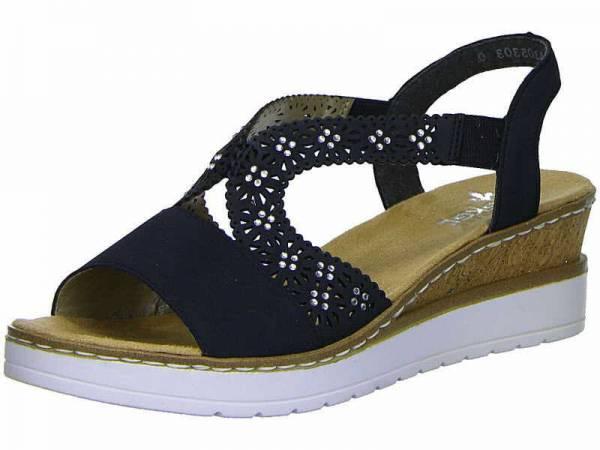 Rieker Sandalette Damen Sandale Sommerschuhe modisch elegant Freizeit blau NEU - Bild 1