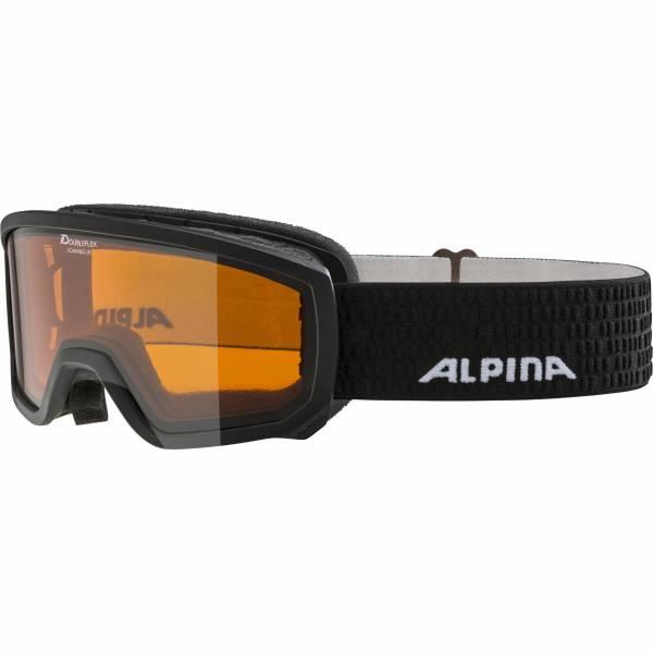 Alpina Scarabeo Jr. Kinder Skibrille Snowboardbrille Wintersport Alpin black NEU