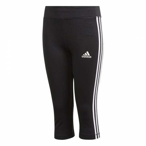 adidas Equipment 3-Streifen 3/4 Tight Mädchen Sporthose Freizeit schwarz NEU - Bild 1