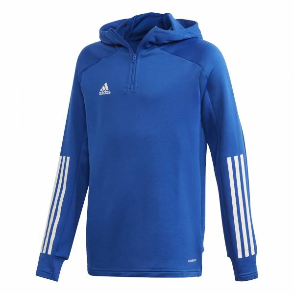 adidas Condivo 20 Track Hood Youth Jungen Sportjacke Kapuze Fitness blau NEU - Bild 1