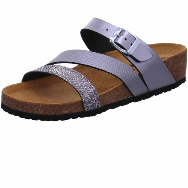 Longo Damen Pantolette Sandale Sandalette Freizeit Outdoor modisch anthrazit NEU - Bild 1