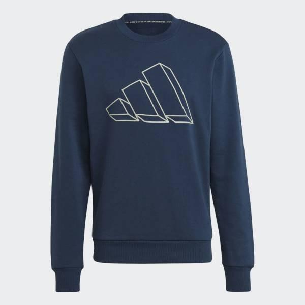 Adidas Sportswear Graphic Sweatshirt Pullover sportlich Outdoor Herren blau NEU - Bild 1