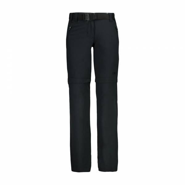 Campagnolo Stretch Long Pant Zip off Mädchen CMP Trekkinghose grau NEU - Bild 1