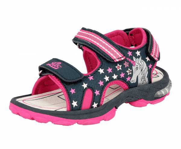 Lico Sandale Spotlight Blinky Lights Kinder Einhorn Freizeit blau/pink NEU